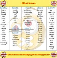silent letters list a to z english grammar