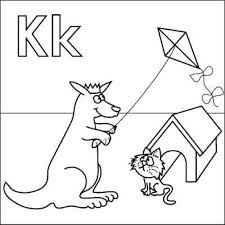letter k coloring page intended to invigorate to color an image