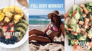 full body workout what i eat in a day 87 u0026 new mattress vegan