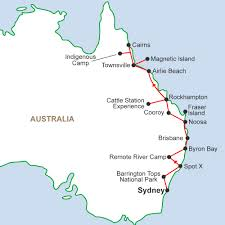 Map Of North East Map Of East Australia You Can See A Map Of Many Places On The