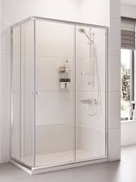 haven 760 x 900 twin door offset corner entry shower enclosure
