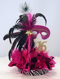 Centerpieces Sweet 16 by Sweet 16 Masquerade Party Supplies Fabulous Feathers Centerpiece