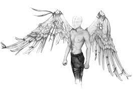 drawn angel man angel pencil and in color drawn angel man angel