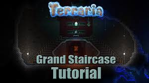 Grand Stairs Design Terraria Grand Staircase Build Tutorial Youtube