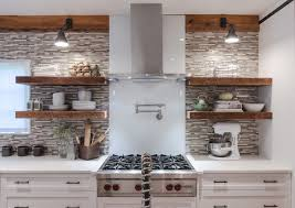 Thick Floating Shelves by Chunky Floating Kitchen Shelf Design Ideas