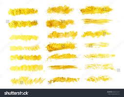 vector gold watercolor texture paint brush stock vector 520411621