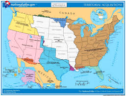 Mexico States Map by Mexican Cession History Territory Mexican Cession Summary Us