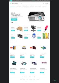 website template 52154 stationary store stationery custom website