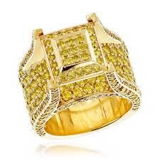 gold mens rings images Unique rings by luxurman 6ct yellow diamond mens ring 14k yellow jpg