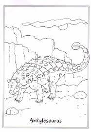 coloring page dinosaurs 2 ankylosaurus dinosaur theme