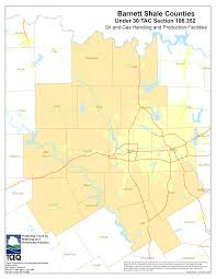 Map Of The State Of Texas Barnett Shale Maps And Charts Tceq Www Tceq Texas Gov