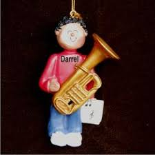 clarinet virtuoso african american female christmas ornament