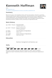 Ceo Resume Sample President Ceo Resume Samples Visualcv Resume Samples Database