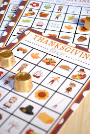 free printable thanksgiving bingo projects