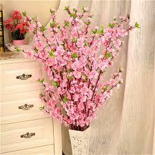 fake flowers for home decor 1pcs 65cm artificial flowers peach blossom simulation flower for