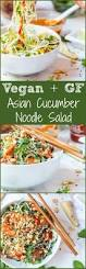 asian noodle salad with cucumbers and ginger almond dressing