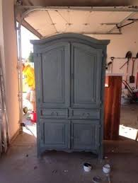 pine tv armoire i painted it with chalk paint color is a cement