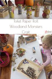 diy toilet paper roll woodland monsters fall craft for children