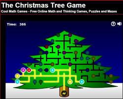 christmas tree light game light up the tree mathematics games