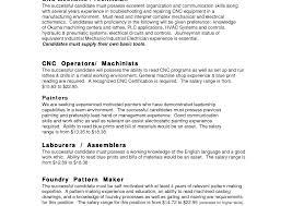 pattern maker resume 100 cnc machinist resume sles exles jewelry sales resume sevte