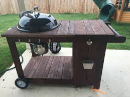 Outdoor Grill Ideas by Custom Weber Bbq Grill Cart With Ice Chest Weber Grill Cart With