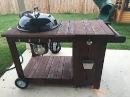 Custom Backyard Bbq Grills by Custom Weber Bbq Grill Cart With Ice Chest Weber Grill Cart With