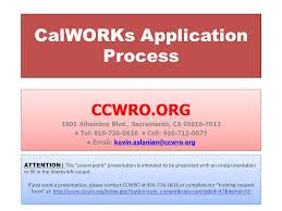 calworks application process ccwro org 1901 alhambra blvd