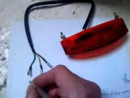 motorcycle stop brake and normal light wiring for inexpensive