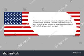 Us Flags Com Us Flag Banner Header Template American Stock Illustration