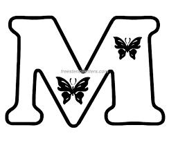 print m letter stencil free stencil letters