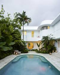 inside an eclectic art deco miami home canvases art deco and house