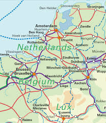 belgium and netherlands map benelux belgium the netherlands luxembourg rail map airport