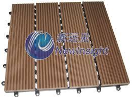 china wpc diy decking tile interlocking composite deck tiles wpc