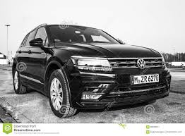 volkswagen tiguan black volkswagen tiguan r line black 2017 editorial photography