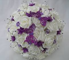 artificial wedding bouquets silver and purple wedding bouquets our wedding wish list
