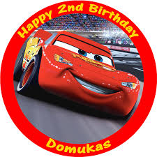 cars cake toppers cars lightning mcqueen edible personalised birthday cake topper