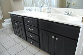 painting cabinets black in bathroom black painted laminate