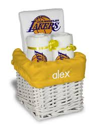 Gift Baskets Los Angeles Personalized Los Angeles Lakers Small Gift Basket Nba Baby Gift