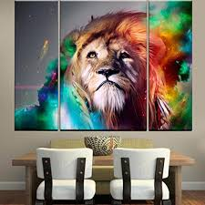 rain queen modern abstract art colorful lion oil paintings on