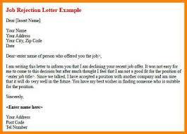 4 decline job application after interview cashier resumes