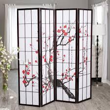 Expandable Room Divider 4 Panel Room Divider U2013 Plum Blossom