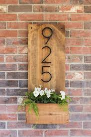 how to make a vertical house number sign for your home exterior