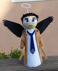 castiel angelic figurine christmas tree topper