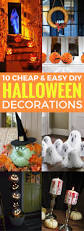10 cheap and easy diy halloween decorations crafts on fire