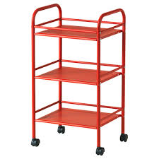 3 tier metal kitchen trolley on wheels libenli