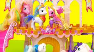 mlp wedding castle my pony toys dolls wedding castle cake mix up when