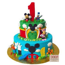 mickey mouse clubhouse birthday cake 2299 2 tier mickey mouse clubhouse 1st birthday abc cake shop