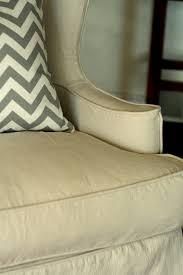 Custom Slipcovers By Shelley Custom Slipcovers By Shelley Drop Cloth Wingback Chair