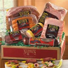 summer sausage gift basket smoked meat gift box smoked pork nueske s