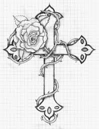 15 images of rose cross coloring page hearts drawing hearts and